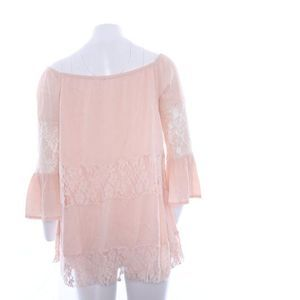 New free people pink off shoulder lace top XS